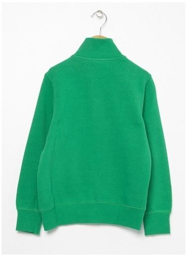 Benetton Benetton Logolu Yeşil Erkek Çocuk Sweatshirt Yeşil